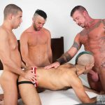 Bareback Orgy: Tommy Deluca, Ray Dalton, Alex Mason and Wolvypup