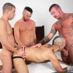 Bareback Orgy: Tommy Deluca, Ray Dalton, Alex Mason and Wolvypup