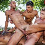 Ken Summers, Dominic Arrow, Viktor Rom and Bogdan Gromov Gay Bareback Orgy