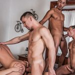 Devin Franco, Andrey Vic, Angel Cruz, Javi Velaro and Drae Axtell Gay Bareback
