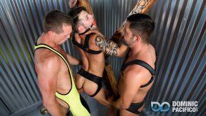 Dominic Pacifico, Pierce Paris and Casey Everett Gay Bareback 1