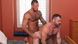 Bishop Angus and Michael Roman Gay Bareback 1