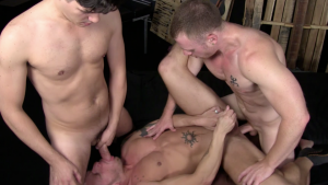 Saxon West, Chris Tyler and Shane Frost Gay Bareback 1