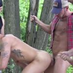 Outdoor Gay Bareback Orgy