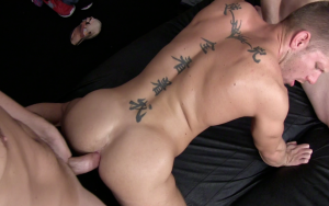 Saxon West, Chris Tyler and Shane Frost Gay Bareback 2