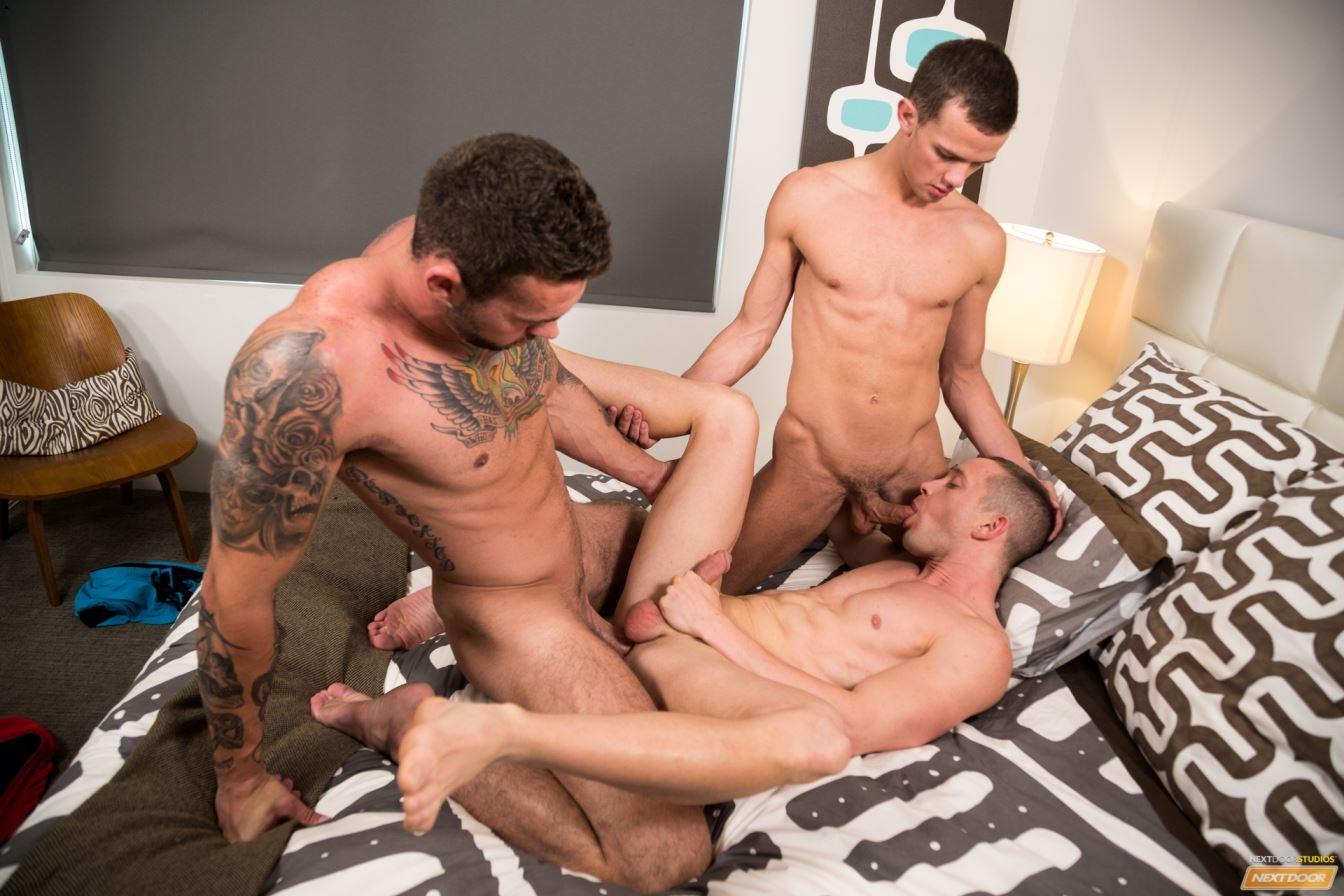 Logan Cross, Steve Rogers and Cameron Dalile Gay Bareback