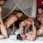 Dakota Payne, Damon Heart, Aaden Stark, Shawn Reeve and Carlos Lindo Gay Bareback