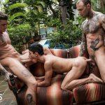 Joaquin Santana, Dylan James and Gordie Jackson Gay Bareback