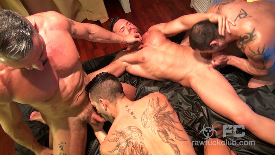 Andy Star's Gay Bareback Orgy
