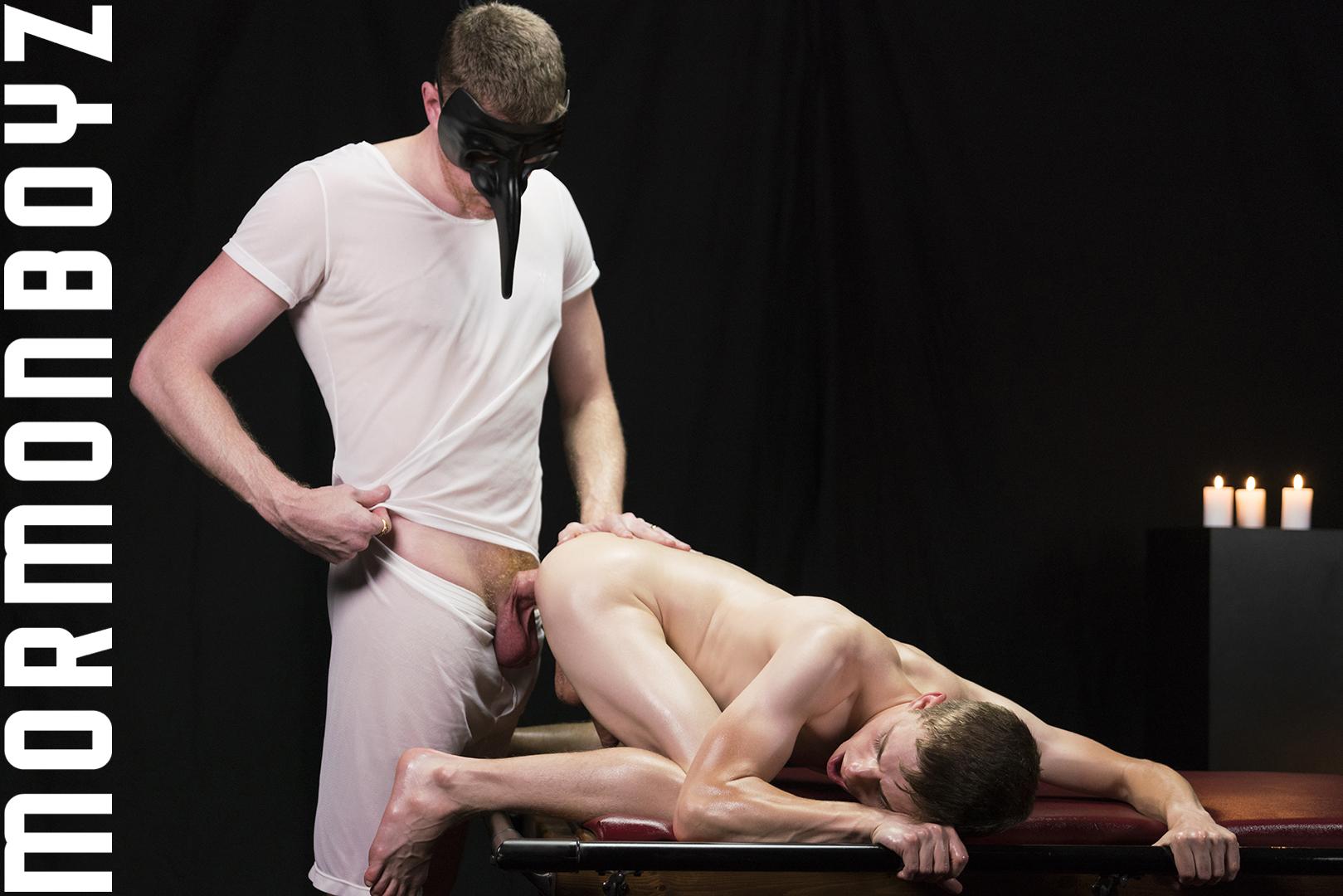 Mormon Boy Dalton Takes President Olsen's Raw Cock