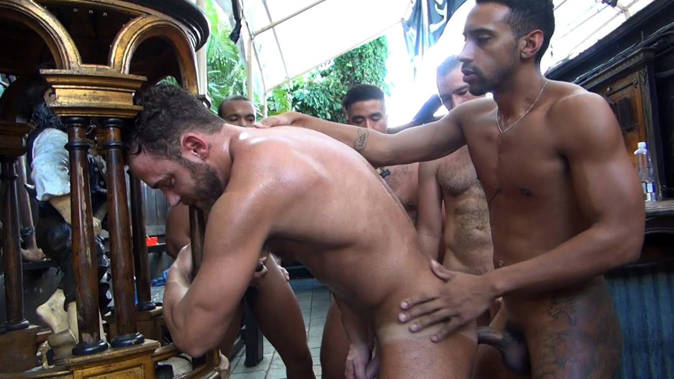 Logan Moore's Gay Bareback Orgy