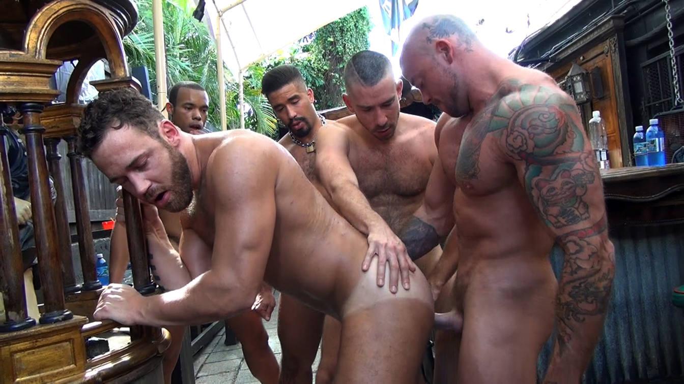 Logan Moore's Gay Bareback Orgy – Part 2