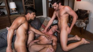 Rafael Carreras, Devin Franco and Shawn Andrews – Bareback Threesome