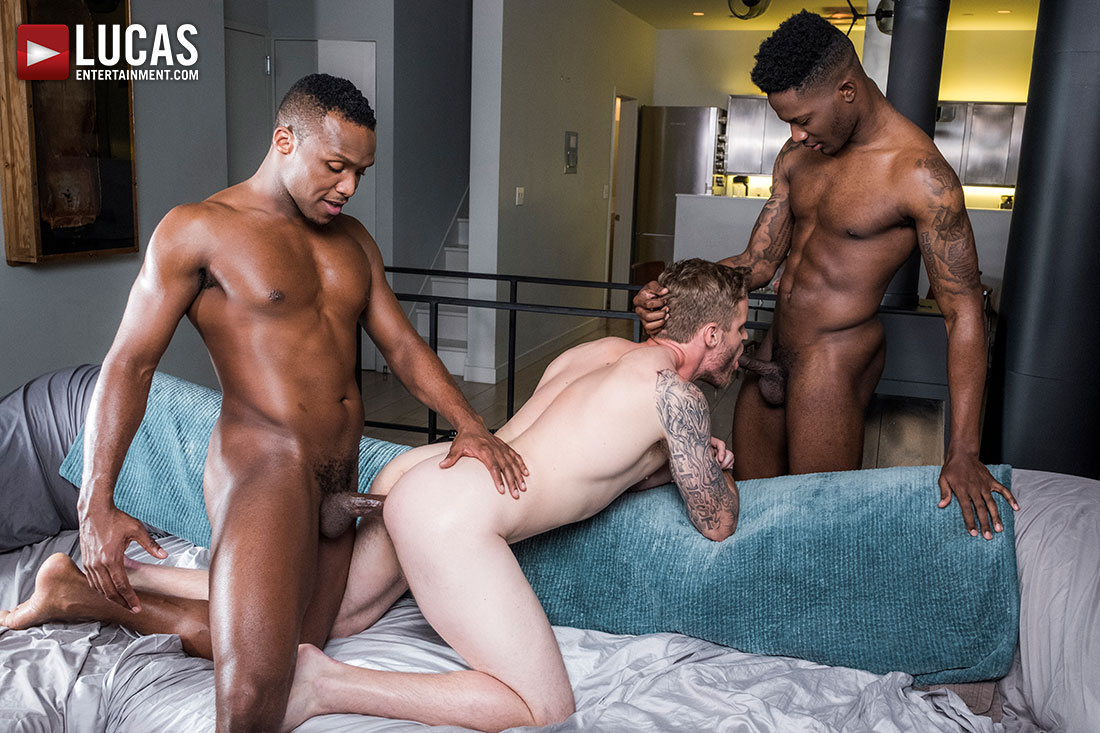 Shawn Reeve Gets Barebacked By Andre Donovan and Bama Romello
