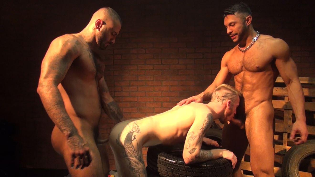 Rikk York, Seth Santoro and Declan Moore: Raw Threesome