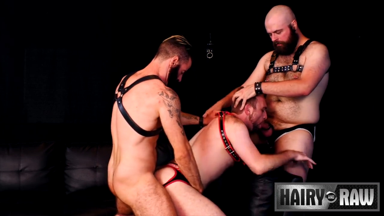 Bareback Leather Fuckers: Brendan Patrick, Dax Librastic and Harper Davis 1