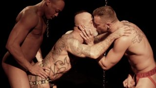 Daddy Bo Bangor Gets Fucked By Trent King And Wade Steele