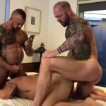 Muscle Daddy tag team - Jon Galt, Riley Mitchel & Vic Rocco