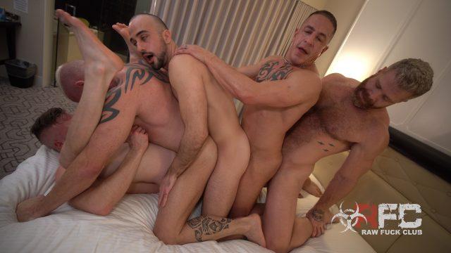 Choo-Choo Motherfucker – 5 Men Bareback Orgy