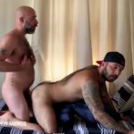 Daddy Damon Andros breeds Julian Torres with a Thick Load