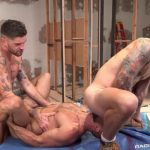 Marco Napoli, Chris Damned & Isaac X - Bareback Threesome