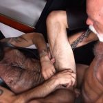 Leather Daddies Hart Caldwell & John Stache Fuck In The Sling