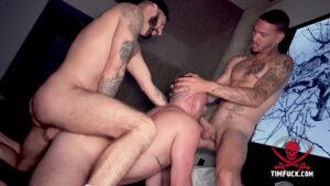 Daddy Cream & Romeo Davis Share Max Romano's Ass